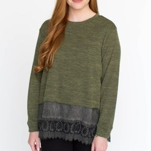 Agnes and Dora Olive Pullover Small NWT